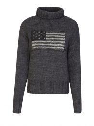 Grey Flag Knitted Jumper