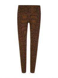 Brown Luna Snake Print Leggings