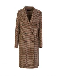 Brown Carles Check Double Face Coat
