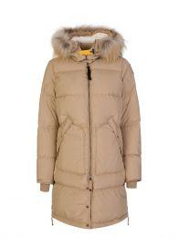 Beige Light Long Bear Parka Coat