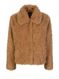 Brown Marcella Faux Fur Jacket