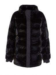 Black Gloss Puffer Jacket