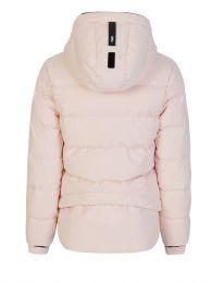 Pink 2L Bio Cropped Puffer Jacket