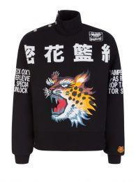 x Kansai Yamamoto Black Cheetah Quilted Sweatshirt