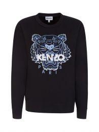 Black Embroidered Tiger Logo Sweatshirt