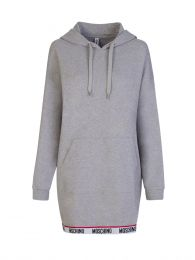 Grey Logo Tape Hooded Dress