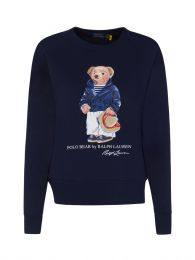 Navy Blue Fleece Polo Bear Sweatshirt