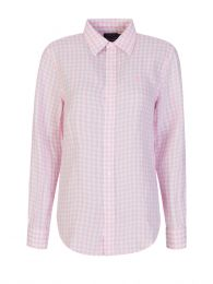 Pink/White Gingham Linen Shirt