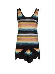 Black/Yellow Striped Frill Shorts