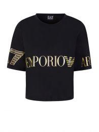 Black Logo Cropped T-Shirt