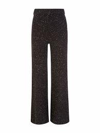 Black Knit Tweed Trousers