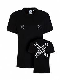Black Loose-Fit Cross Logo T-Shirt