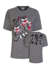 x Kansai Yamamoto Grey Loose-Fit 'Three Tigers' T-Shirt