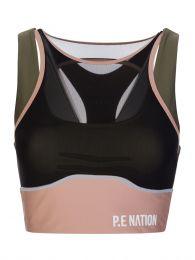 P.E. Nation Olive Fast Lane Sports Bra