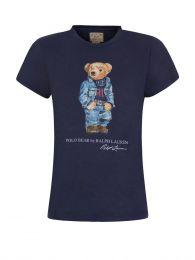 Blue Denim Bear T-Shirt