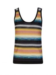 Black/Yellow Stripe Tank Top