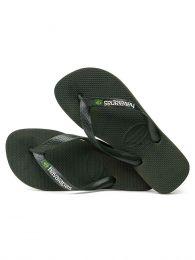 Green Brasil Flip Flops