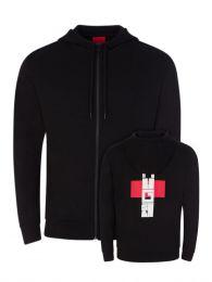 Black Durtle Hooded Zip-Through