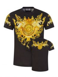 Black Panel Baroque T-Shirt