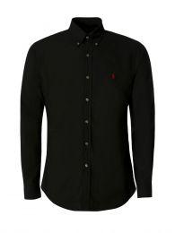 Black Slim-Fit Poplin Shirt