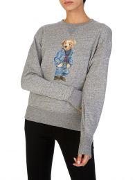 Grey Denim Bear Sweatshirt