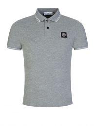 Melange Grey Tipped Polo Shirt