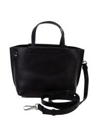 Black Leather Mini Shopping Bag