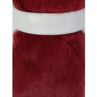 Moncler Red Lucie Fur Trainers