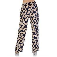 Diane Von Furstenberg Navy Veronica Leaf Trousers