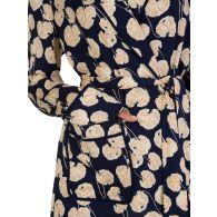 Diane Von Furstenberg Navy Braelyn Leaf Kimono