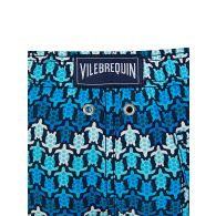 Vilebrequin Junior Blue Herringbones Turtles Swim Shorts