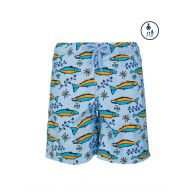 Vilebrequin Junior Sky Blue Fish Swim Shorts