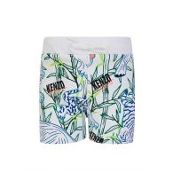 KENZO Kids White Disco Jungle Shorts