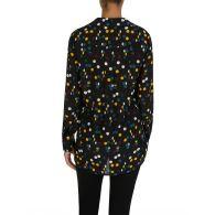 Diane Von Furstenberg Eclipse Black Dot Carter Two Shirt