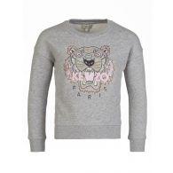 KENZO Kids Grey Sequin Tiger Sweatshirt