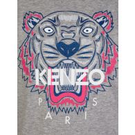 KENZO Kids Grey Tiger Print Long Sleeve T-Shirt