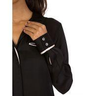 J. Brand Black/Moodlight Kaiya Long Sleeve Shirt