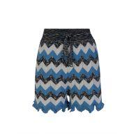 M Missoni Blue Knitted Lamé Shorts