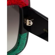 Gucci Black Over-sized  Sparkle Sunglasses