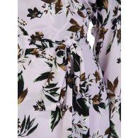 Diane Von Furstenberg Lavender Floral Elle Dress