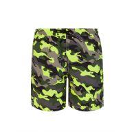 MC2 Saint Barth Junior Fluorescent Camo Swim Shorts