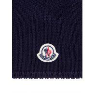 Moncler Enfant Navy Knit Beanie