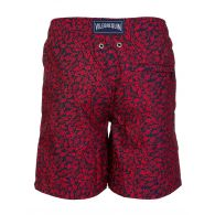 Vilebrequin Junior Navy With Red Mini Fish Print Swim Shorts