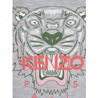 KENZO Kids Grey Tiger T-Shirt