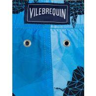 Vilebrequin Junior Blue 3D Turtle Football Swim Shorts