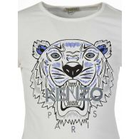 KENZO Kids Cream Long Sleeved Tiger T-Shirt