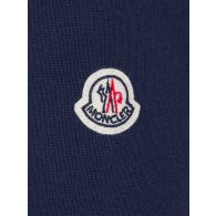Moncler Navy Down Panel Zipped Knitted Jacket
