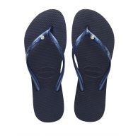 Havaianas Navy Slim Crystal Flip-Flops