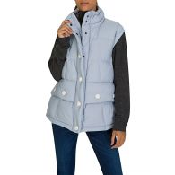 Moncler Grey Puff Salei Gilet