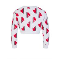 Dsquared2 Kids White Maple Leaf Cropped Sweatshirt